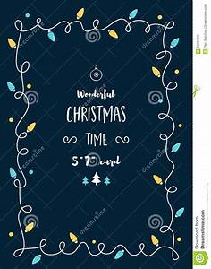 Girlande Weihnachten Beleuchtet : weihnachtskarten schablone mit weinlese beleuchtet girlande und raum f r text vektor abbildung ~ Frokenaadalensverden.com Haus und Dekorationen