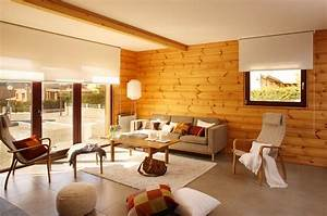 Modern house interior for Log home interior decorating ideas