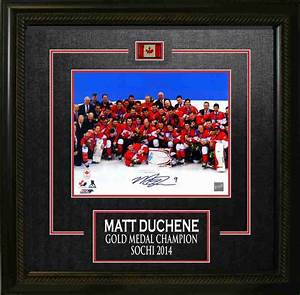 "Matt Duchene - Signed & Framed 8X10"" Team Canada ..."