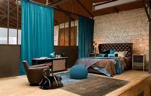 Pouf En Bois : 1001 designs stup fiants pour une chambre turquoise ~ Teatrodelosmanantiales.com Idées de Décoration