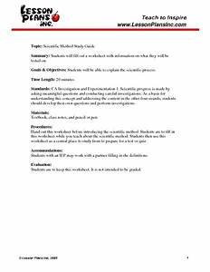 Scientific Method Study Guide Worksheet For 8th