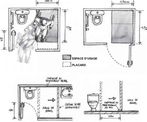 porte toilette dimension dimensions wc pmr avec vasque solutions pour la