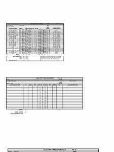 Blank Panel Schedule