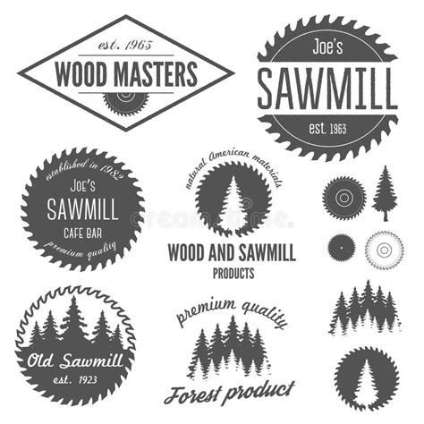 set of logo labels badges and logotype elements stock vector 50874773