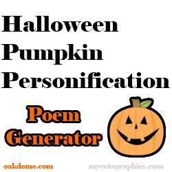 Poems Generator Halloween Poem Generator Technology Integration
