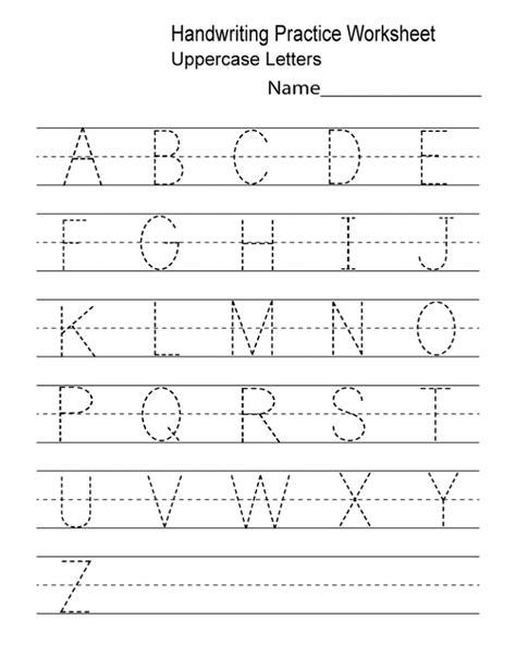 handwriting practice sheets for kindergarten preschool