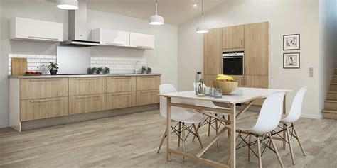 cuisine bois plan de travail blanc plan de travail et crédence des idées pour les associer