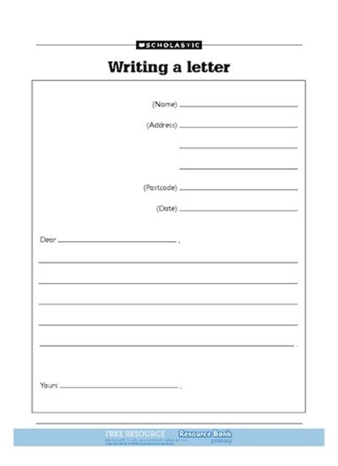 writing  letter  primary ks teaching resource
