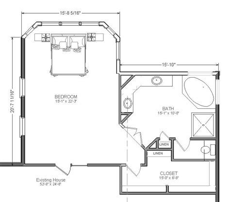 Bedroom Blueprints by Master Suite Plans Master Bedroom Addition Suite With