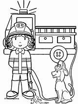 Coloring Firefighter Printable Preschoolers Fireman Sam Getdrawings Getcolorings sketch template