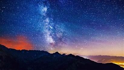 Starry Sky Night Desktop Wallpapers Background Wallpapersafari
