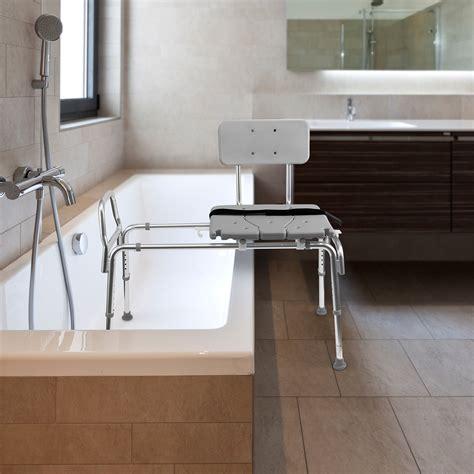sliding shower chairs for elderly dmi shower tub transfer bench chair for the disabled