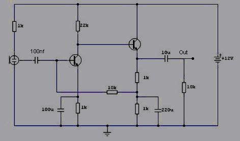 rangkaian pre mic condenser koleksi skema rangkaian elektronika