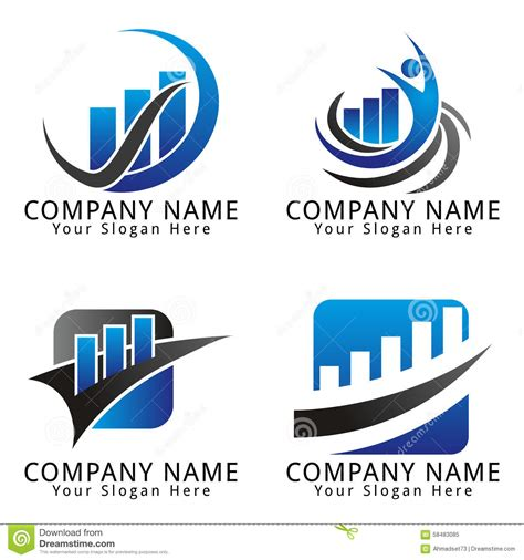 free editable logo templates finance and marketing concept logo stock vector image 58483085
