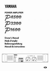 Mode D U0026 39 Emploi Yamaha P4500-p3200-p1600