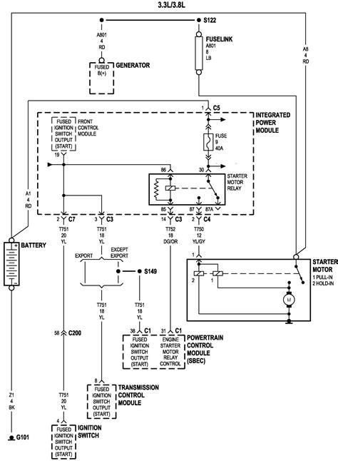 2001 caravan wiring diagram ignition wiring library