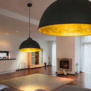 Lampe Für Wohnzimmer : led decken lampe 40 cm schwarz gold loft design industrie fabrik h nge leuchte design home ~ Eleganceandgraceweddings.com Haus und Dekorationen