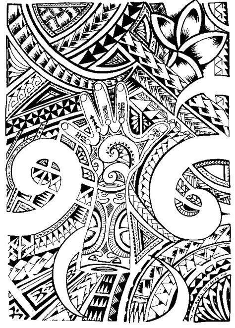 Art Therapy coloring page Tattoos : Maori tattoo 6