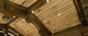 Inexpensive Basement Ceiling Ideas by Reclaimed Wood Ceiling Ideas Post 9
