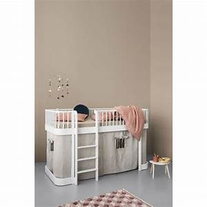Lit Enfant Mi Haut : lit mezzanine enfant design en bois massif oliver furniture ~ Premium-room.com Idées de Décoration