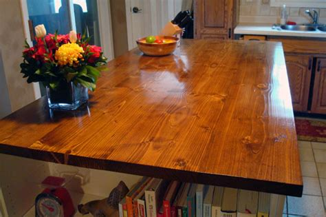 wood countertop home   acres