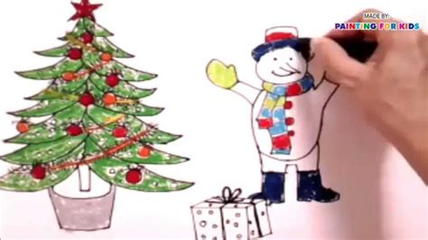 draw christmas tree  kids   paint