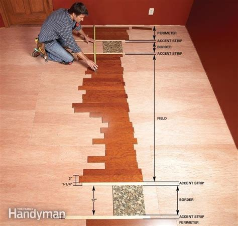 how to lay out a room for laminate flooring diy hardwood floors lay a contrasting border the family handyman
