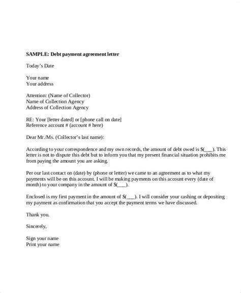 agreement letter examples word