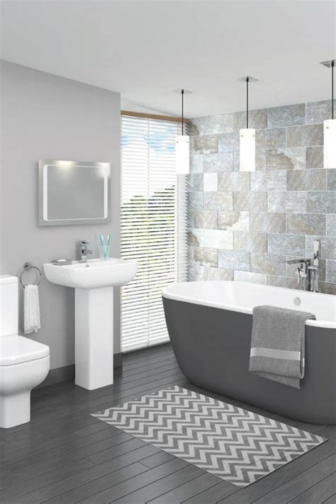 Bathroom Ideas In Grey by This Beautiful Grey Bathroom Design Is Complemented