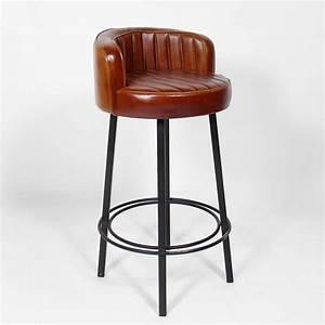 Tabouret de bar style vintage americain des annees 50 for Deco cuisine avec chaise design cuir