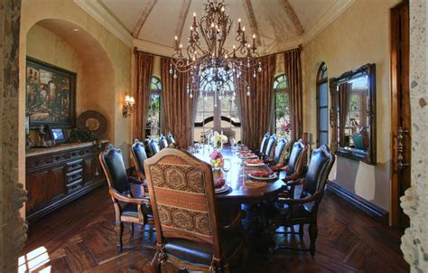 elegant dining room mediterranean dining room