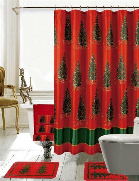 daniels bath christmas bathroom decor  piece shower