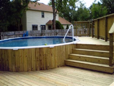 the wood plank siding on pool with the multi level deck outdoor wishes