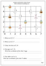 graphing pictures on coordinate grid easter maths worksheet co ordinates maths