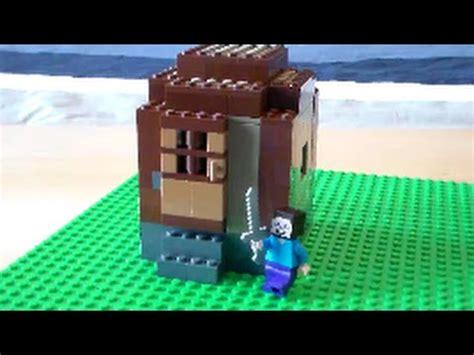 lego minecraft mini fig scale village tutorial part  wood