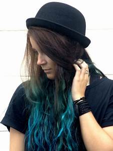 turquoise/blue dip dye/ombre hair | LUUUX | Hair ...