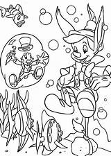 Pinocchio Coloring Disney Pages Colorare sketch template