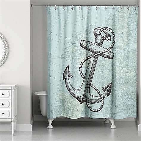 coastal shower curtains coastal map shower curtain in blue bed bath beyond