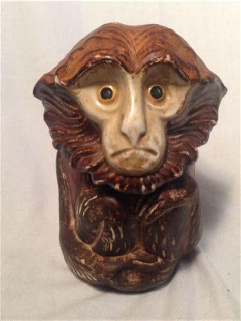 antique figural cigar tobacco humidor figurine monkey