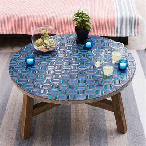 mosaic tiled coffee table indigo west elm