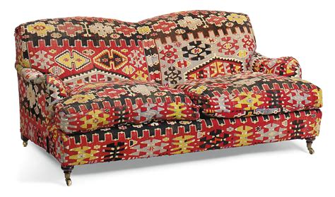 Kilim Loveseat by A Kilim Upholstered Sofa Of Style Late 20th