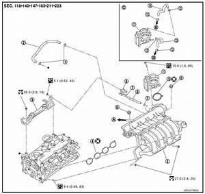 Nissan Sentra Service Manual Intake Manifold Removal