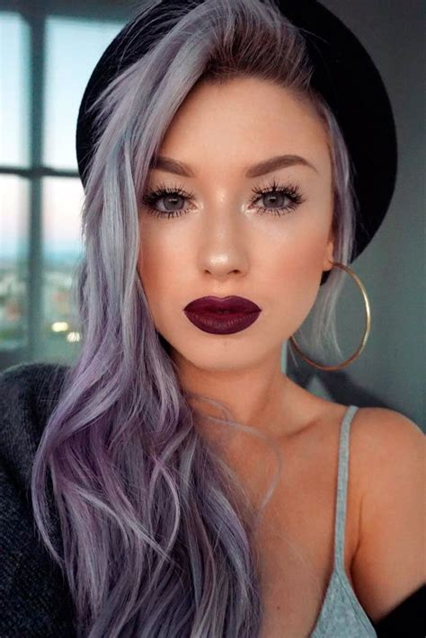 Best 25 Silver Purple Hair Ideas On Pinterest Silver