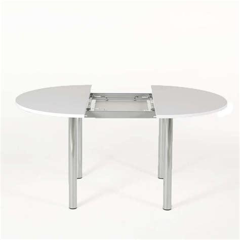 table cuisine 4 pieds table de cuisine ronde extensible en stratifié lustra