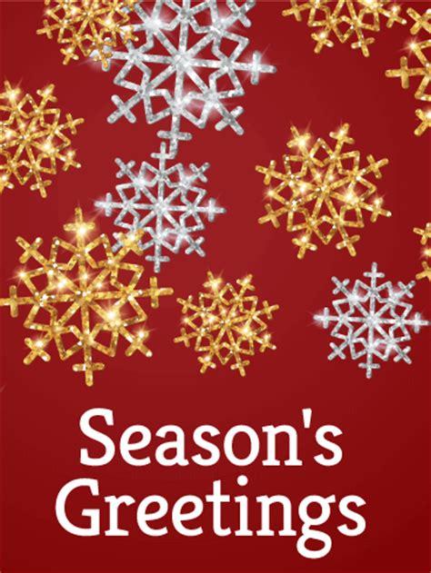 gold silver snowflake seasons  card birthday