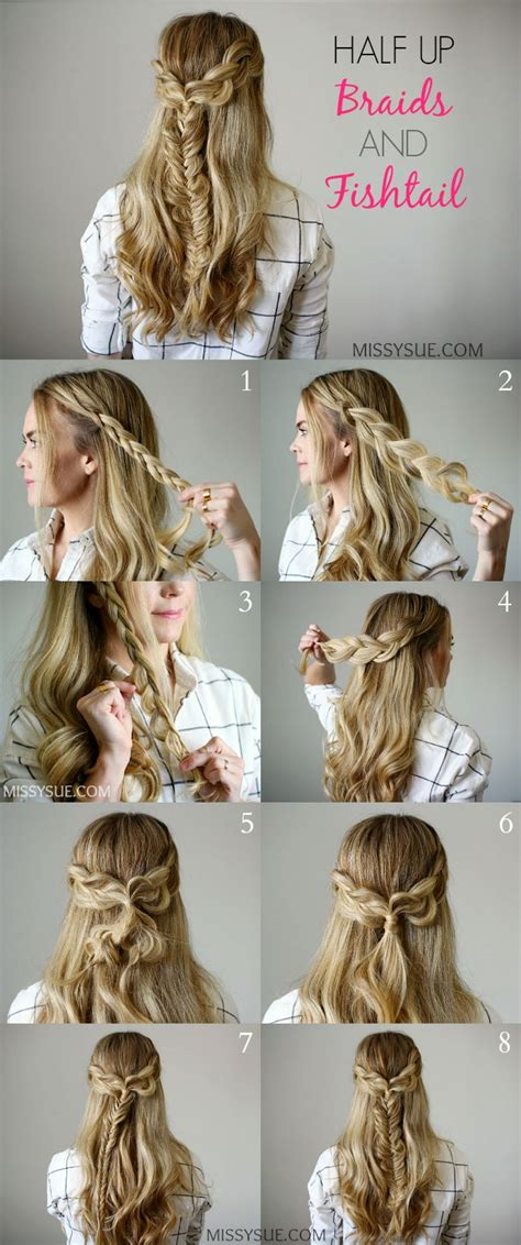 braids  fishtail hair tutorials hair styles