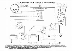 Te20 Generator And Alternator Wiring Diagrams By Heads Tractors