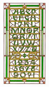 spencer charles stained glass type this isn39t digital With stained glass letters and numbers