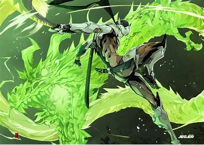 Genji Artstation Overwatch Hary Drawings