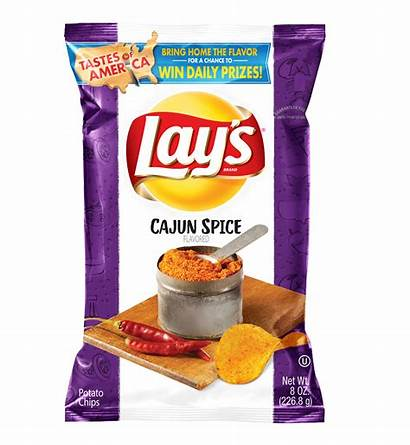 Lay Cajun Spice Chips Flavors Chip Potato